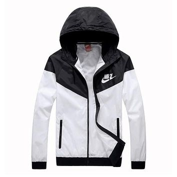 Trendsetter NIKE Jacket Women Men Hooded Zipper Cardigan Sweatshirt Coat Windbreaker Sportswear