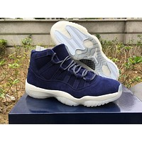 Air Jordan 11 Prm Jeter Blue Suede 351792 147 Us7 13 | Best Deal Online