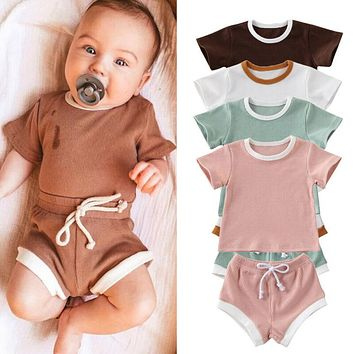 2020 Baby Summer Clothing Infant Baby Girl Boy Clothes Short Sleeve