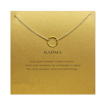 Karma Double chain Circle necklace