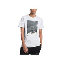 Air Jordan Men's JSW Portrait Photo White  T-Shirt