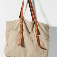 Pocketful Canvas Tote Bag