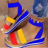 New fashion one-line buckle rubber sole sandals shoes