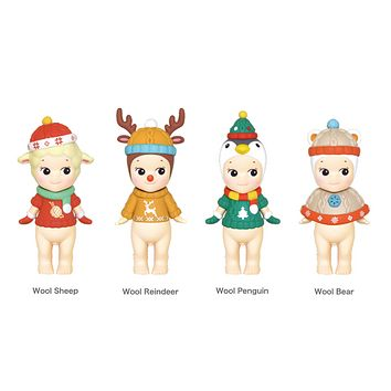 Sonny Angel 2019 Christmas Series Mini Figure Set of 4 with Ornament Stockings