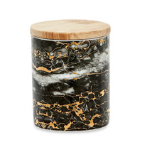 Gold & Black Marble Canister - Various Sizes