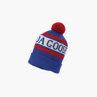 Canada Goose Youth Logo Pom Toque in Blue/Red - FINAL SALE