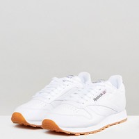 Reebok Classic leather sneakers in white 49799 at asos.com