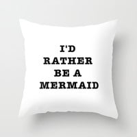 MERMAID Throw Pillow by Trend