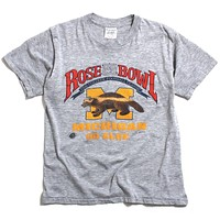 University of Michigan 1989 Rose Bowl 75th Classic Hazelwood T-Shirt Heather Grey (Women's Large)