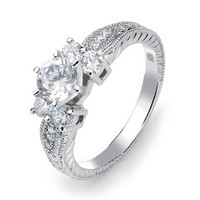 Bling Jewelry Antique Love Ring