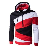 2017 Hoodies Men Hip Hop Mens Brand Splicing Hooded Bandage Hoodie Sweatshirt Men Hoody  Sudaderas Hombre &03