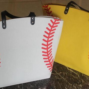 Soft Canvas Sports Tote Bag