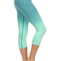Yoga Capri Pants - Aqua
