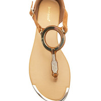 Cubby-03 Bling Ring Sandal