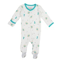 L'OVEDBABY Organic Teal Nest Gloved Sleeve Overall