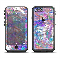 The Abstract Colorful Oil Paint Splatter Strokes Skin Set for the Apple iPhone 6 LifeProof Fre Case