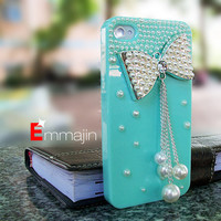 iphone 4cases,Pearl varabow  iPhone 4 cases,iphone 4S  cases ,  Diamond varabow  iphone4 case,blue  iphone 4 4scase
