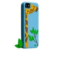 Case-Mate Case for iPhone 5 -Creature - Leafy (Giraffe) - Retail Packaging - Blue