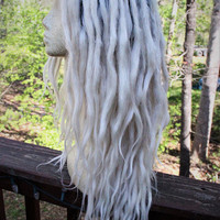 Platinum Blonde Ombre Lace Front Synthetic Dreadlock Wig * White Blond Ombre * Synthetic Dreads * Pastel Goth * Kawaii *