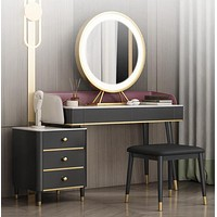 Marble Dressing Table With Storage