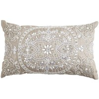 Beaded Medallion Lumbar Pillow