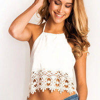 Stone_Cold_Fox Guerrilla crop top in white