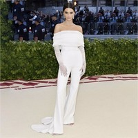 Ohvera Sexy Long Jumpsuits For Women 2018 Off Shoulder White Summer Rompers Womens Jumpsuit Elegant Overalls Kendall Jenner