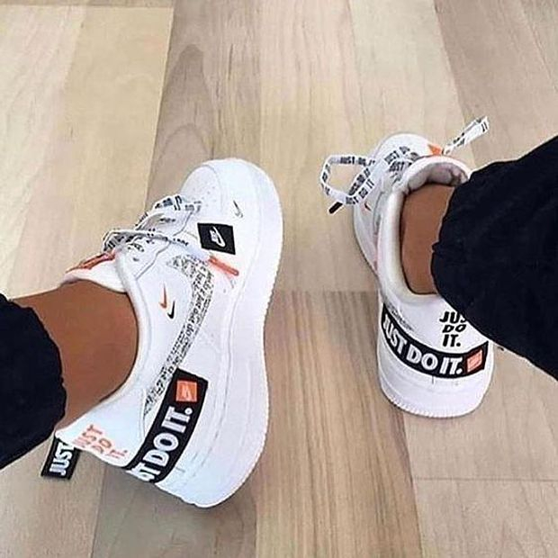 Image of Nike Air Force 1 AF1 Just Do It JDI Trending Women Men Leisure Sport Shoes Sneakers