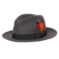 "Levine ""Rex"" Wool Center Dent Fedora"