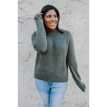 Warm You Up Sweater - Olive