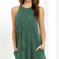 Best Coast Washed Green Dress