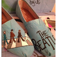 The Beatles Custom Toms Shoes