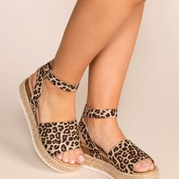 Weekend Cheetah Platform Sandals