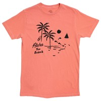 Aloha You Beach, cracked-ink graphic tee