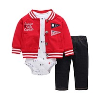 Baby Boy girl Clothes Spring Autumn Hooded Baby Girl Clothes 3 PCs Set Baby Clothing Set with Zipper born Baby Suit
