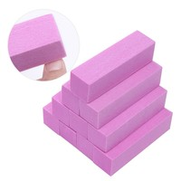 Pink White Nail Files Set Sanding Sponge Nails Buffers Block Grinding Polishing Manicure Nail Art Tools Kit Accessory 4Pcs 10Pcs