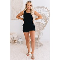 Build Me Up Sleeveless Romper (Black)