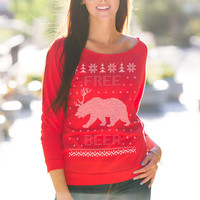 Free Beer Bear Ugly Christmas Sweater