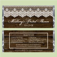 Lace Bridal Shower Candy Bar Wrappers
