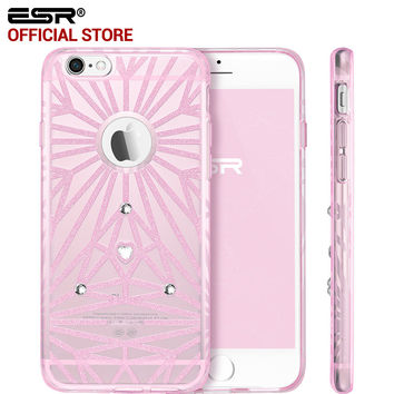 ESR Bling Woman Fashion Case Soft Silicone Crystal Glitter Luxury Diamond Girl Cover for iPhone 6/6s