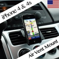 Techno Earth Car Air Vent Phone Holder Compatible With Apple iPhone 4 iPhone 4S AT&T, Sprint, Version 16GB 32GB 64GB