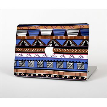 The Abstract Blue and Brown Shaped Aztec Skin for the Apple MacBook Air 13""