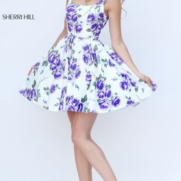 Floral Printed Dress by Sherri Hill