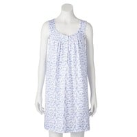 Croft & Barrow Pajamas: Knit Henley Nightgown - Petite, Size: