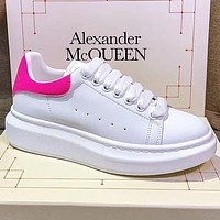 elainse29 Copy of Alexander McQueen Fasion Women Men More color Board Shoes Rose red Tail