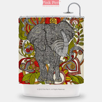 Valentina Ramos Bo The Elephant Shower Curtain Home & Living Bathroom 135