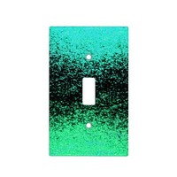 green sparkly light switch cover