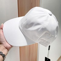 PRADA Hat Female P Home New Embroidered Inverted Triangle Baseball Cap Embroidered Sunshade Cap All-match Hat