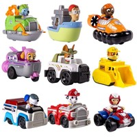 Hot sale Genuine Original Paw Patrol Rescue Racers, Tracker Jungle Pup rocky's boat patrulla canina toys Puppy Patrol Cars Toy
