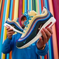 Nike AIR MAX 90 VF SW bullet Tie-dye full palm air cushion Fashion trend comfortable and breathable cushioning sports running shoes-2